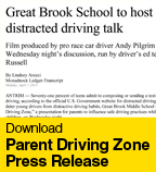 Parent Driving Zone Press Release