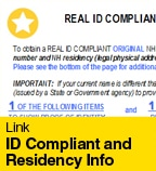 ID Compliant and Residency Info