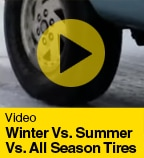 Winter Vs. Summer Vs. All Season Tires